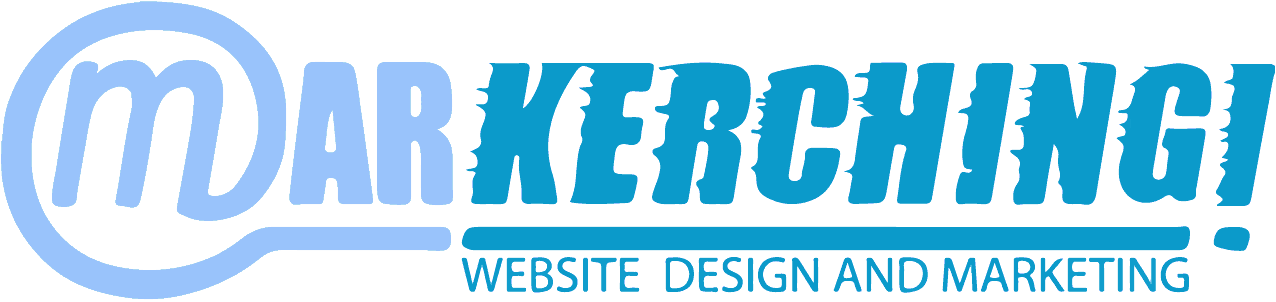 Markerching Web Design Logo. Kerching