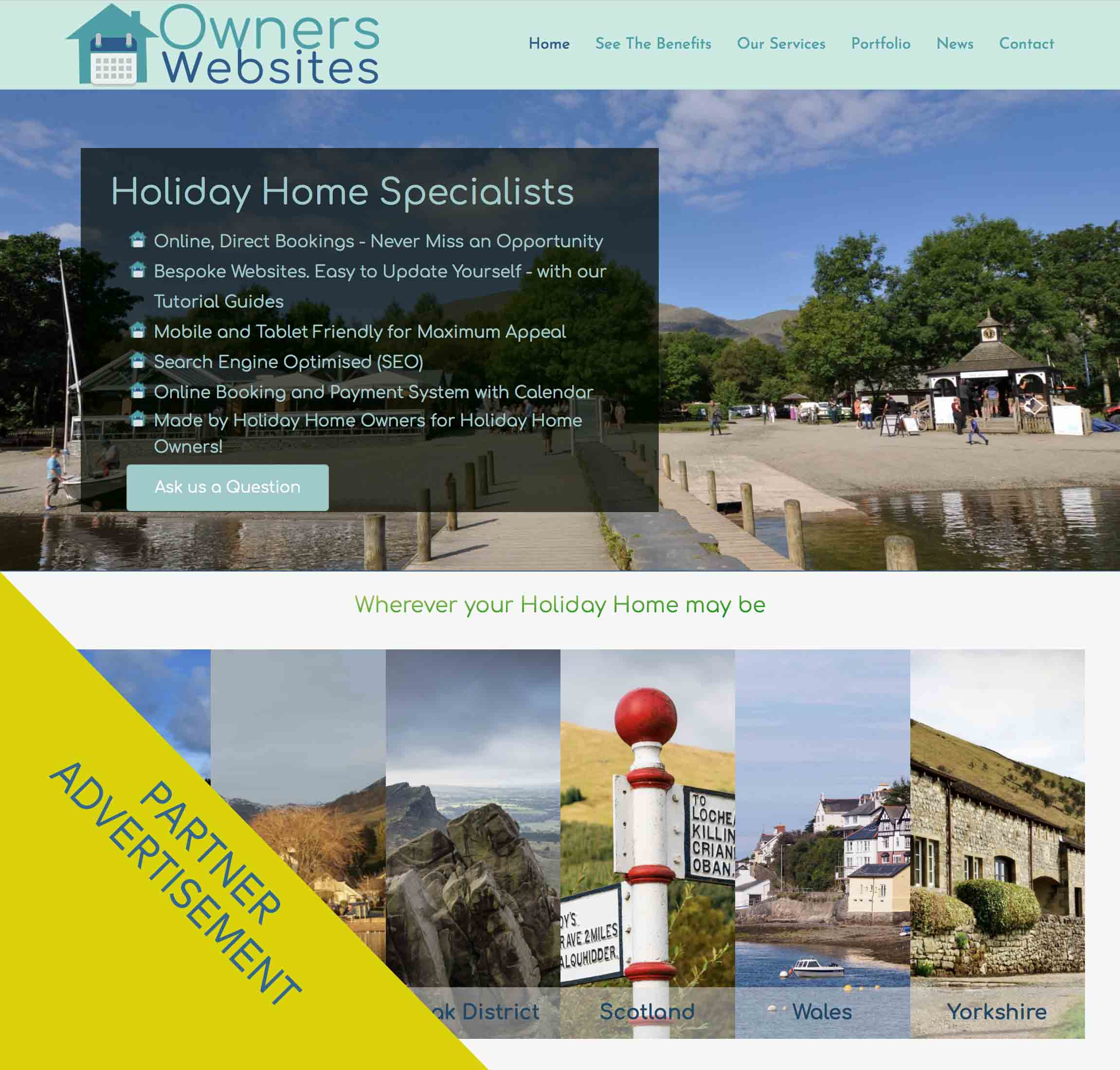 Owners Websites Web Design service for Holiday Homes