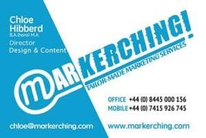 Markerching - Chloe Hibberd, Copy Writer and Web Designer