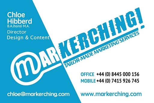Markerching - Chloe Hibberd, Copy Writer and Web Designer